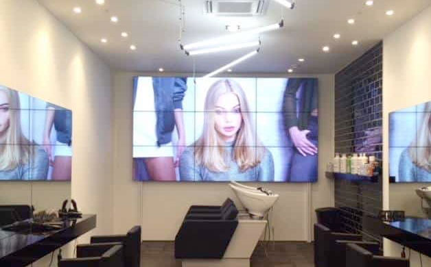 3 x 3 VIDEO WALL DELIVERS THE ULTIMATE WOW FACTOR AT A BRAND NEW HAIR SALON!
