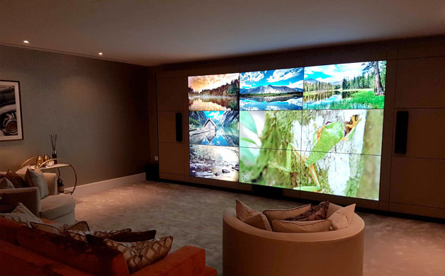 165″ VIDEO WALL IS THE ULTIMATE HOME ENTERTAINMENT SYSTEM
