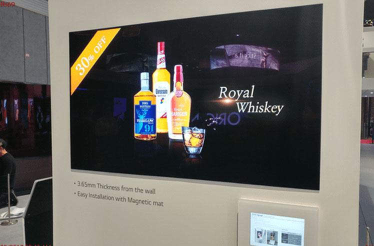 Wallpaper OLED Signage